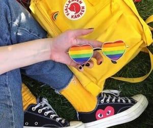 yellow, aesthetic, and rainbow image