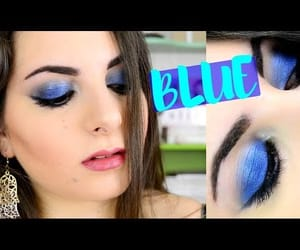 blue, blue eyeshadow, and video image