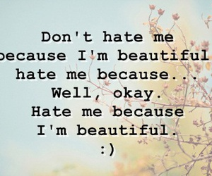 because, flowers, and haters image