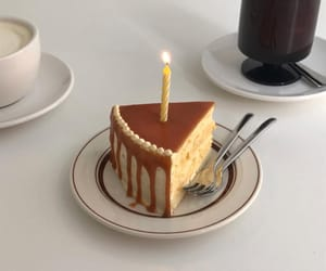 beige, birthday, and cake image