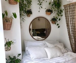 bedroom, design, and plants image