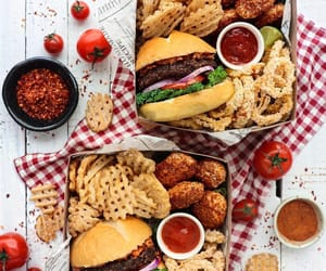 food, burgers, and delicious image