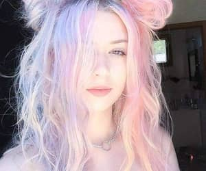 girl, hair, and pink image