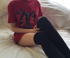 fashion, red, and tumblr image
