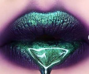 beauty, glossy lips, and makeup image