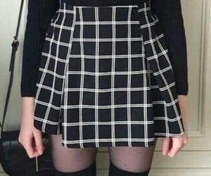 aesthetic, skirt, and black image