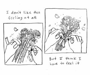quotes, flowers, and art image