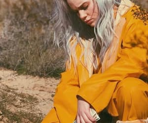 billie eilish, girl, and yellow image