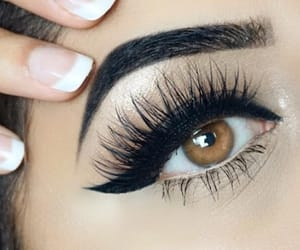 beauty, eye, and eye liner image