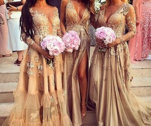 bridesmaid, long dress, and wedding time image