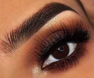 brown eyes, make up, and lashes image