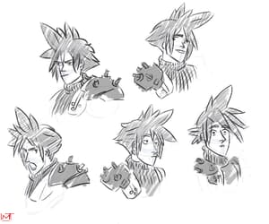 art, draw, and cloud strife image