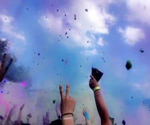 colours, festival, and holi festival image