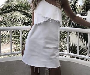 dress, whitedress, and fashion image