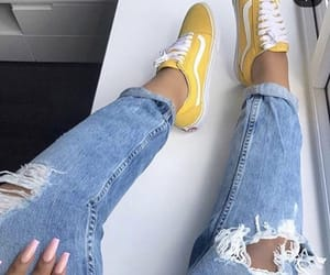 vans, yellow, and fashion image
