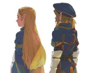 fanart, link, and zelda image