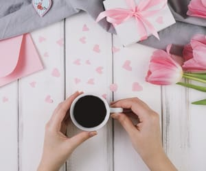 coffee, hearts, and Letter image