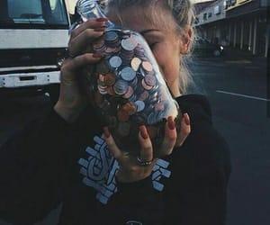 girl, money, and tumblr image