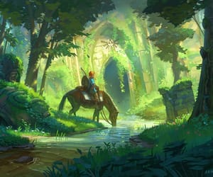 nature, breath of the wild, and art image