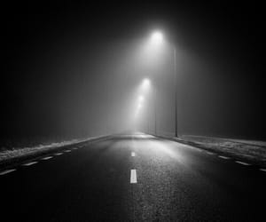 dark, road, and alone image