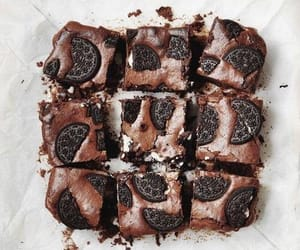 article, brownies, and chocolate image