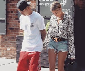 holding hands, justin bieber, and hailey baldwin image