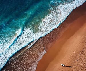 beach, blue, and drone image