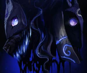 kindred, league of legends, and dark image