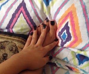 black, nails, and preto image