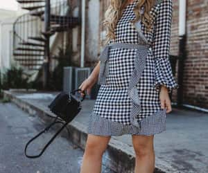 ankleboots, bags, and dress image