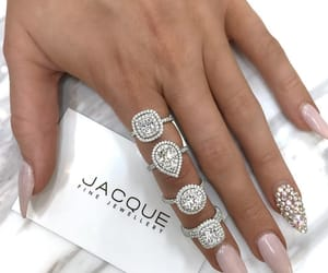 nails, rings, and luxury image
