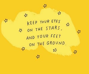 quotes, yellow, and stars image