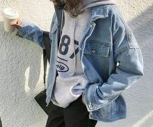 denim jacket, fashion, and street style image
