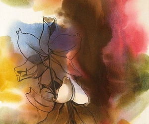 flowers and watercolor image