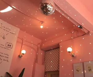 aesthetic, lights, and peach image