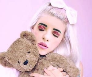 pink, teddy bear, and melanie martinez image