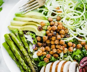recipe, salad, and vegan image