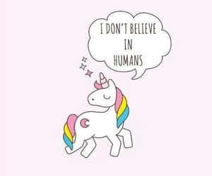 kawaii, quote, and unicorn image