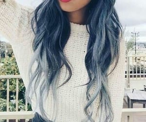 amazing hair and blue image