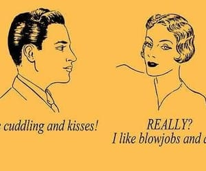 cuddling, funny, and kissing image