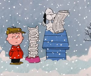 snoopy, gif, and snow image