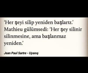 jean paul sartre, alıntı, and türkçe sözler image