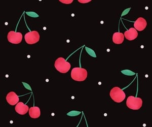 background, cherry, and pattern image