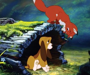 disney, the fox and the hound, and friends image