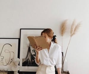 art, book, and outfit image