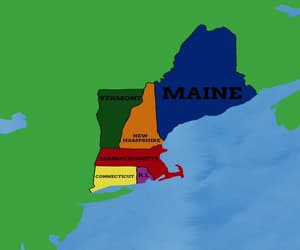 Maine, map, and maps image