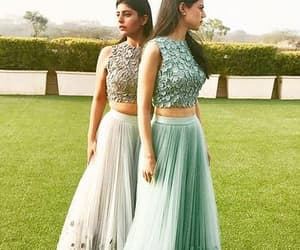 grey prom dress and two pieces prom dress image