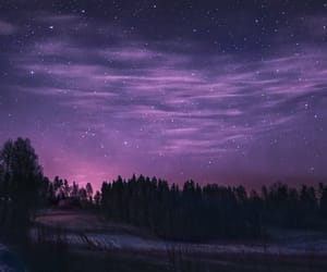 landscape, night, and purple image