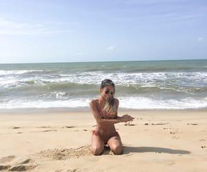 beach, bikini, and blond image
