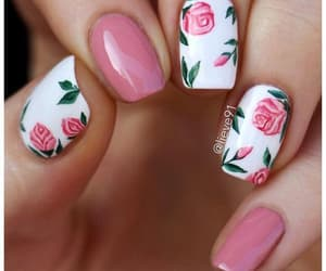 nails, rose, and art image